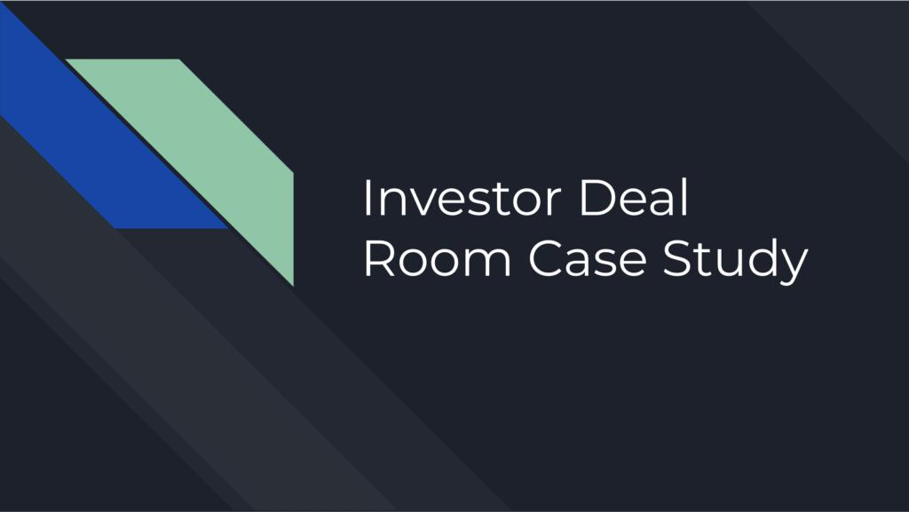 Video Screenshot. Founder Josiah Mann Presents a Case Study of our Investor Management Software