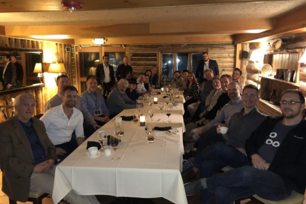 Investor Deal Room client appreciation dinner