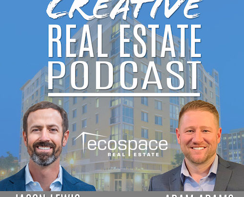 Creative Real Estate Podcast Logo with Jason Lewis and Adam Adams
