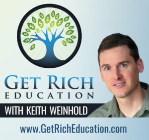 Get Rich Education with keith weinhold logo